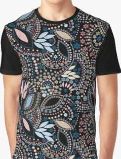 Seamless pattern modern texture abstract background with beads textile black, blue, retro Graphic T-Shirt