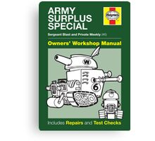 Haynes Manual - Army Surplus special - Poster and stickers Canvas Print