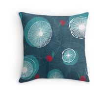 Mushrooms and berries Throw Pillow