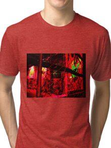 Pop Wire Fence by Billy Bernie Tri-blend T-Shirt