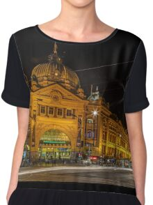 Melbourne Flinders Street Station  Chiffon Top