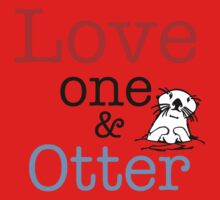 Love One & Otter One Piece - Short Sleeve