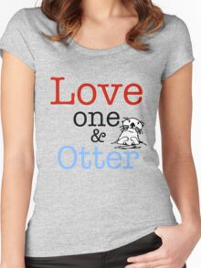 Love One & Otter Women's Fitted Scoop T-Shirt