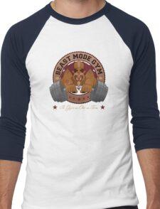 Beast Mode Gym (Non-Distressed) Men's Baseball ¾ T-Shirt