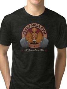 Beast Mode Gym (Non-Distressed) Tri-blend T-Shirt