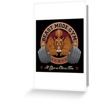 Beast Mode Gym (Non-Distressed) Greeting Card