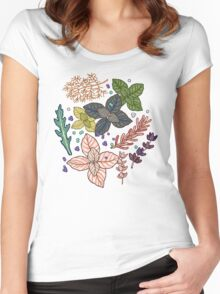 mysterious herbs Women's Fitted Scoop T-Shirt