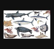 Marine wildlife Kids Tee