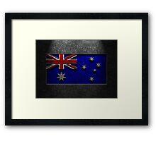 Australian Flag Stone Texture Framed Print
