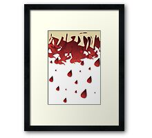 BLOOD DROPS Framed Print