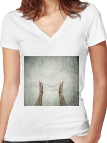 cats cradle Women's Fitted V-Neck T-Shirt