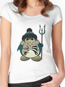 Harold The Penguin Women's Fitted Scoop T-Shirt