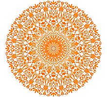 Tribal Mandala Orange Photographic Print