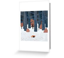 Asleep in the Woods Greeting Card