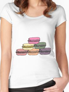 pyramid of macarons Women's Fitted Scoop T-Shirt