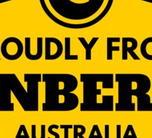 Proudly From Canberra Australia Sticker