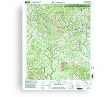 USGS TOPO Map Alabama AL Nauvoo 304652 2000 24000 Canvas Print