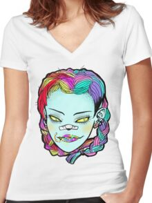 acidpowers Women's Fitted V-Neck T-Shirt