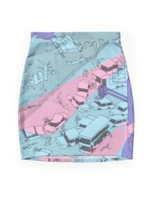 Alien Robot Attack Mini Skirt
