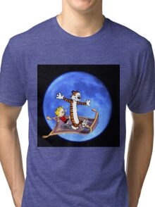 calvin and hobbes moon sky Tri-blend T-Shirt
