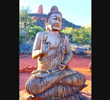 meditating buddha statue Unisex T-Shirt
