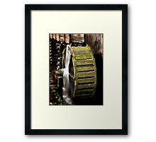 Mill Wheel in Cades Cove Framed Print