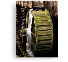 Mill Wheel in Cades Cove Canvas Print