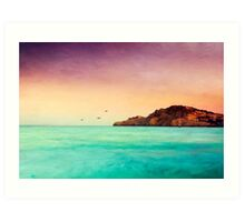 Glowing Mediterran Art Print