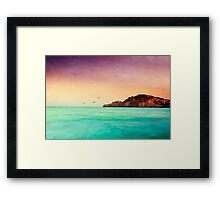 Glowing Mediterran Framed Print