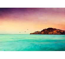 Glowing Mediterran Photographic Print
