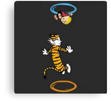 calvin hobbes adventure time Canvas Print