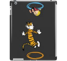calvin hobbes adventure time iPad Case/Skin