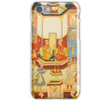 Isfandiyar taking refreshments with a princess in a palace pavilion, Mughal,  iPhone Case/Skin