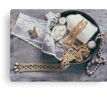 Pearls & Lace Canvas Print
