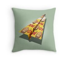 MAD Paper Airplane 148 Throw Pillow