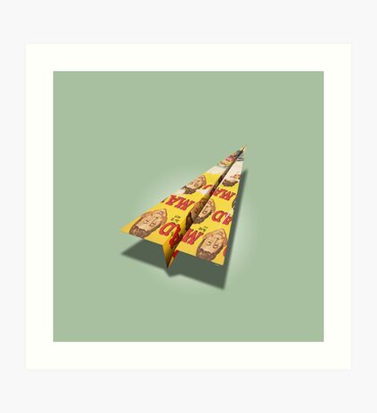 MAD Paper Airplane 148 Art Print