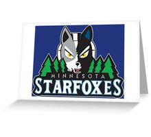 Minnesota Starfoxes Greeting Card