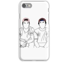 Dolan twins- stencil coloured hats iPhone Case/Skin