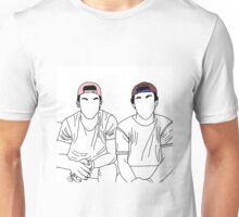 Dolan twins- stencil coloured hats Unisex T-Shirt
