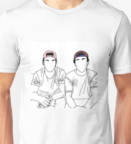 Dolan twins- stencil coloured hats Unisex T-Shirt