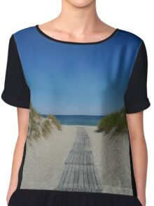 Pathway to the sea Chiffon Top