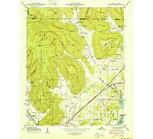 USGS TOPO Map Alabama AL Doran Cove 303697 1950 24000 Photographic Print