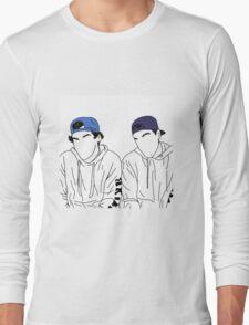 Dolan twins- stencil hats #2 Long Sleeve T-Shirt