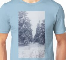 snowy fir trees Unisex T-Shirt