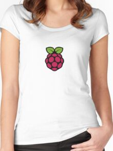 Raspberry Pi Logo Women's Fitted Scoop T-Shirt