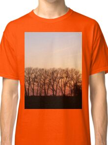 Trees In The Romantic Sunset Classic T-Shirt