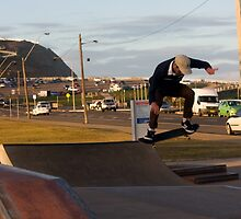 Backside 180 Ollie by reflector