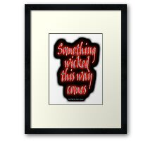 MACBETH, Something Wicked, The Play, Shakespeare, Play, Theater, Play, Second Witch Framed Print