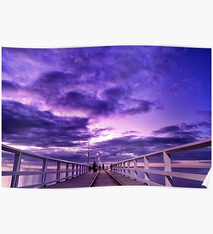Sunset Over Busselton Jetty Poster