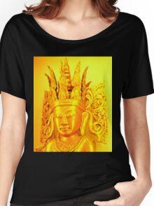 gold buddha head Women's Relaxed Fit T-Shirt